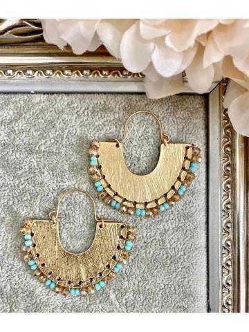 Mes jolies boucles d'oreilles gold et jolies perles