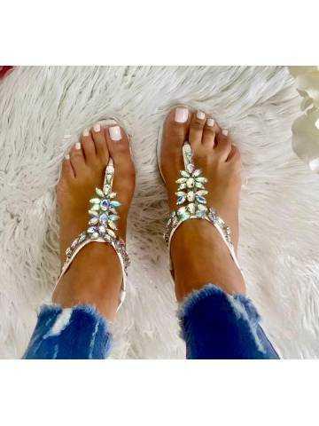 """Mes sandales """"so diamond white"""""""