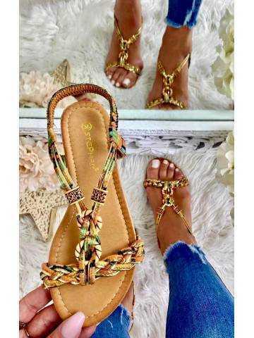 """Mes jolies sandales """"imprimé & gold"""" 2"""