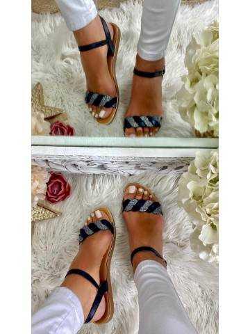 Mes sandales black tressées