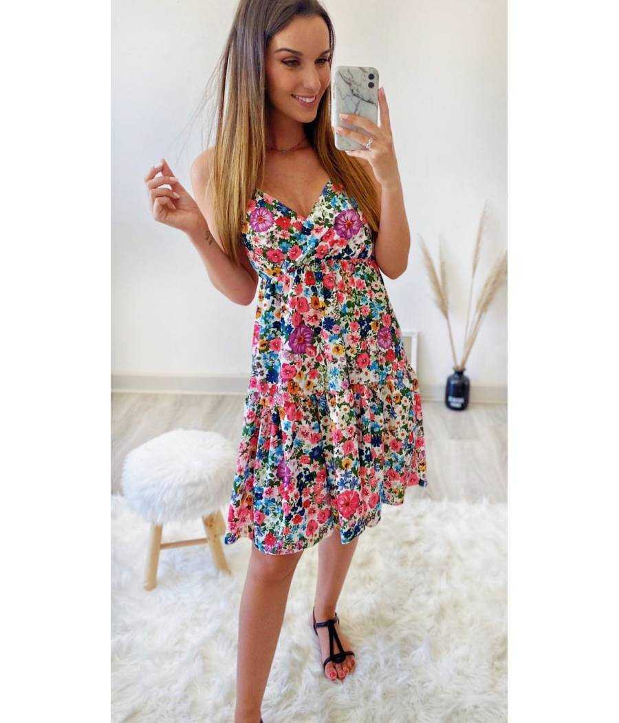 """Ma jolie robe blanche """"punchy flowers 2"""""""
