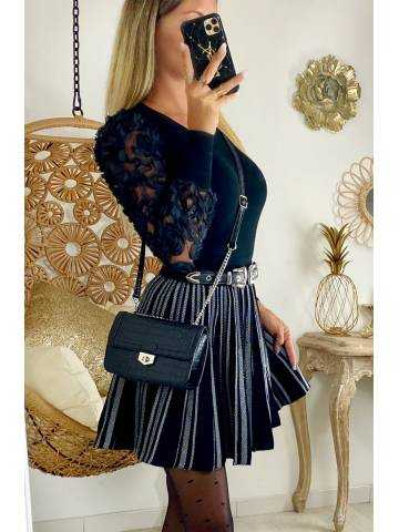 "Ma jolie jupe black and white ""plissée"""