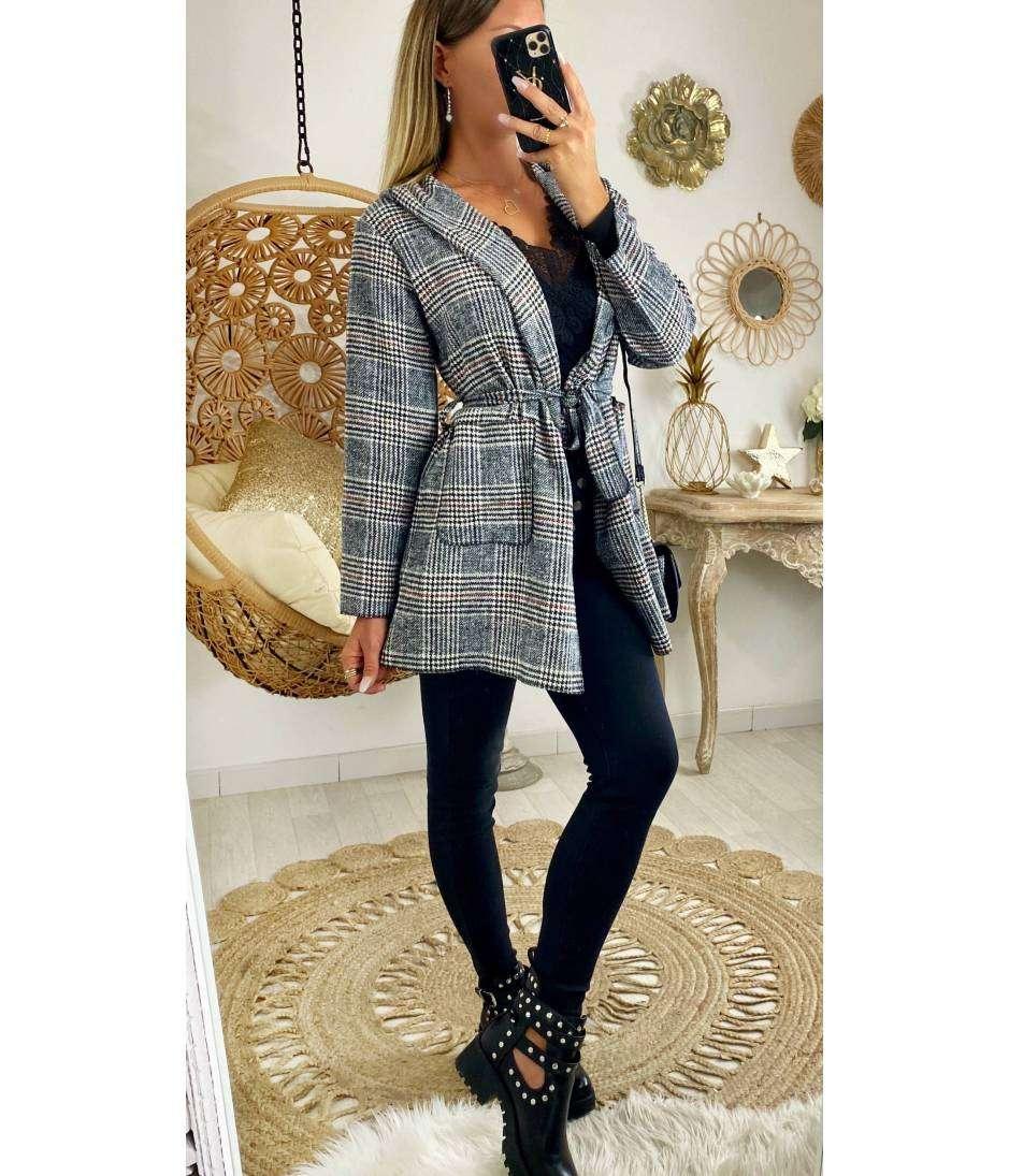 """Ma veste légère loose à capuche  à carreaux """"luxury"""""""