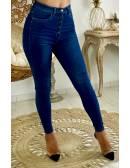"""Mon Jeans bleu taille haute """"boutonné"""" 2"""