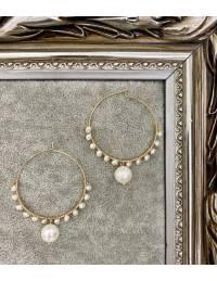 """Mes jolies créoles  """"pearls & gold"""""""