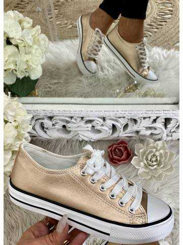 Mes jolies baskets blanches et roses gold