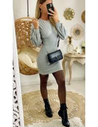Ma jolie robe grise tube bi matière