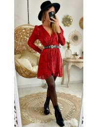 "Ma jolie robe  cache coeur "" black & red"""