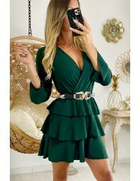 "Ma jolie robe vert émeraude ""volants"""