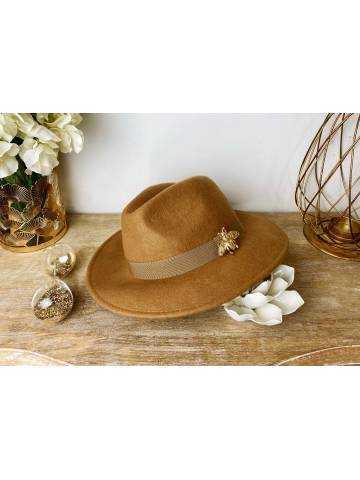 """Mon joli chapeau en suédine beige """"Gold Bee"""""""