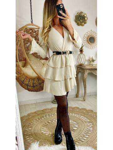 "Ma jolie robe beige ""volants"""