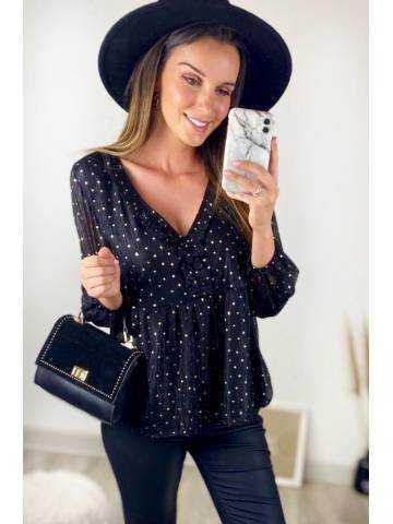 """Ma superbe blouse noire et  touches """"Gold"""""""