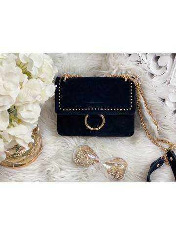 Mon sac black daim & gold