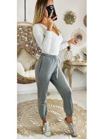 Mon pantalon style jogging gris