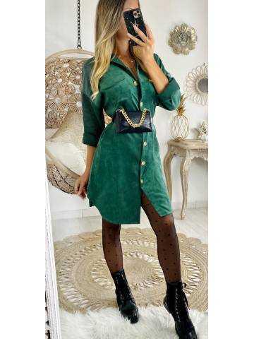 "Ma jolie robe vert émeraude ""style velours """
