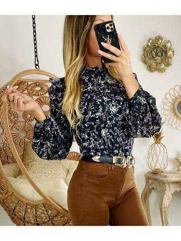 "Ma superbe blouse ""black & gold"""