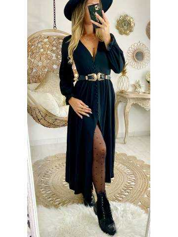 Ma  robe longue boutonnée