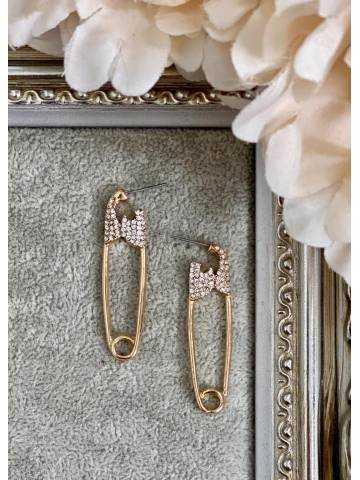 "Boucles d'oreille ""gold pin"""