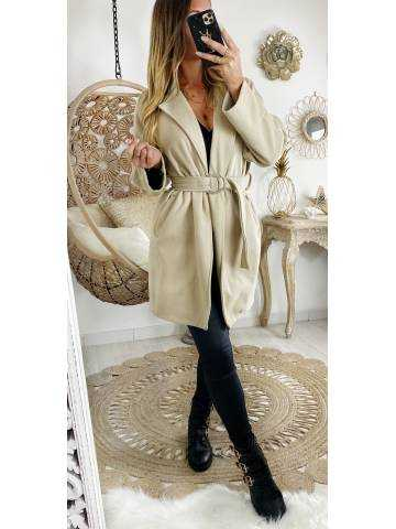"""Mon manteau en lainage """"beige nude"""""""