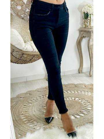 """Mon Jeans black taille haute """"used"""""""
