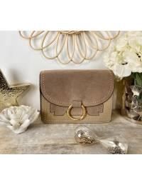 Mon sac taupe daim & gold