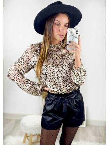 """Ma superbe blouse beige  touches Gold style """"Léo"""""""