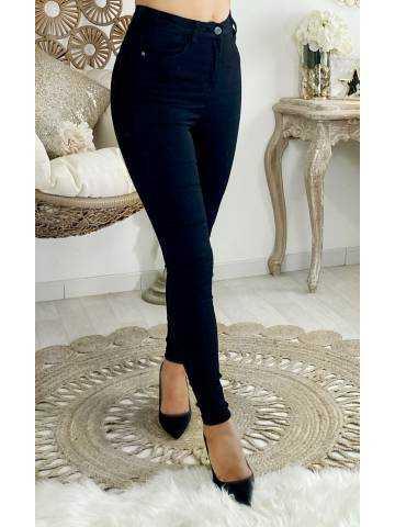 Mon jeans noir taille haute