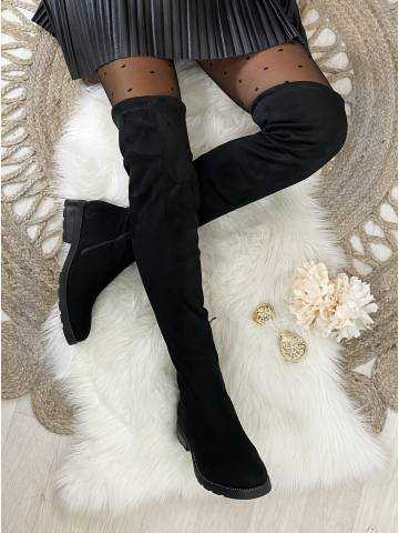 "Mes jolies cuissardes  black ""style daim et strass """