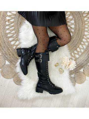 """Mes bottes black """"Lacets & boucles"""""""