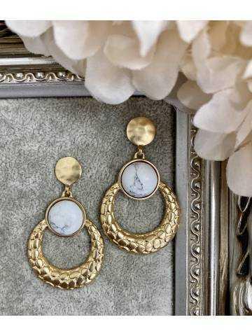 Mes boucles d'oreilles gold & marble