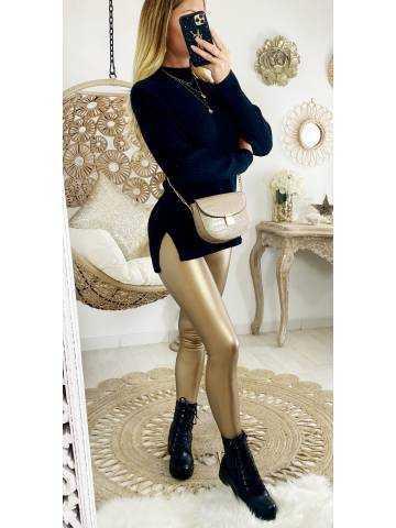 "Mon Legging gold ""style cuir"""