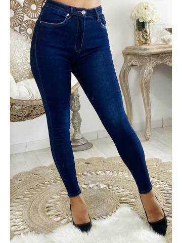 Mon Jeans bleu foncé taille haute