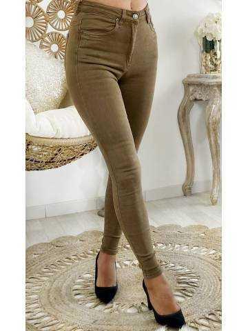 Mon Jeans camel taille haute
