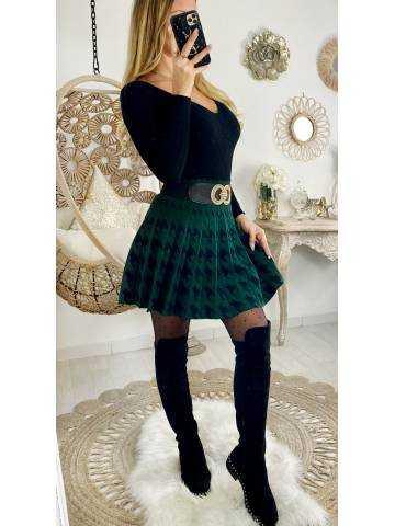 """Ma jolie jupe volants à carreaux """"black/Green"""""""