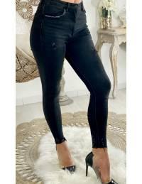 Mon Jeans taille haute dark grey
