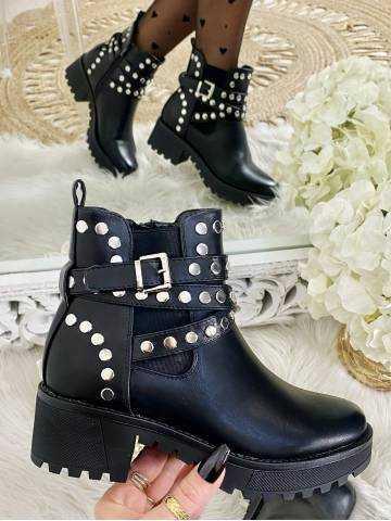 """Mes bottines black à rivets  """"boucle silver"""""""