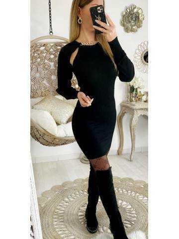 Ma jolie black côtelé et manches amovibles