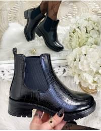 """Mes boots """"black & croco"""""""