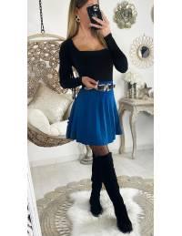 "Ma jupe en maille bleu canard ""plissée"""