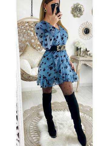"""Ma robe cache coeur """"blue & velvet"""""""