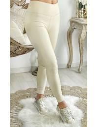 "Mon Legging beige ""style cuir"""