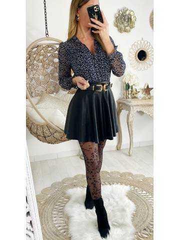 """Ma blouse boutonnée """"black & white imprimée"""""""