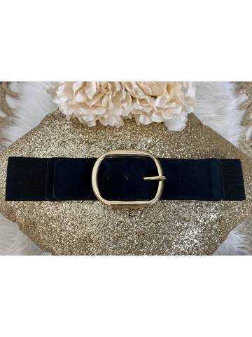 """Jolie ceinture élastique """"Maxi boucle Gold"""""""