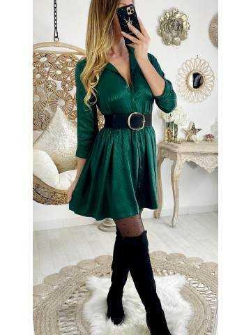 "Ma jolie robe ample satinée ""vert émeraude"""
