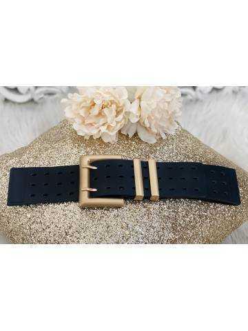 """Jolie ceinture élastique """"boucle carrée  Gold"""""""