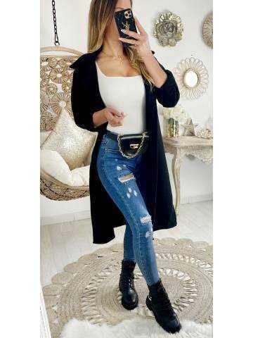 Ma veste lainage longue et loose black
