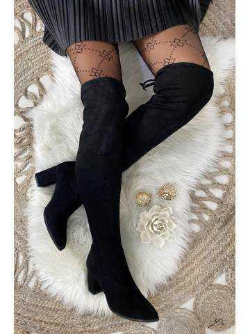 Mes jolies cuissardes black à talons
