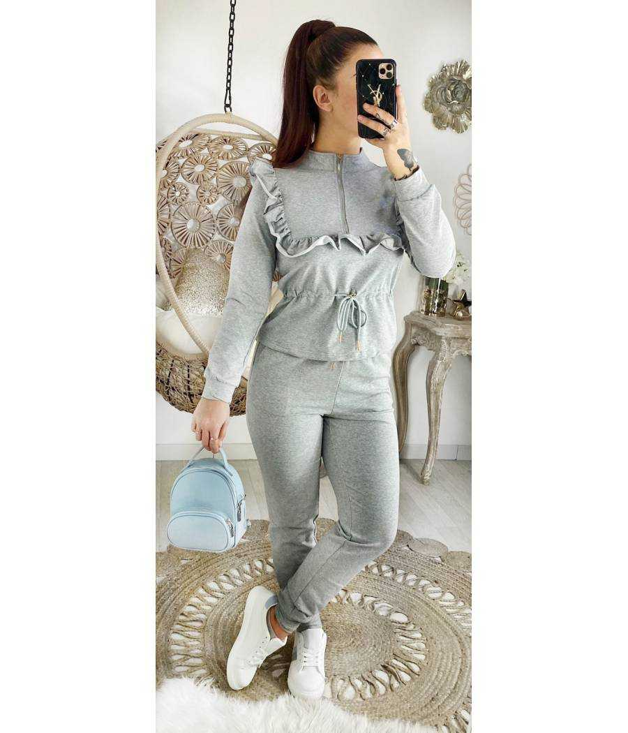 "Mon ensemble jogging Grey ""jolis volants"""