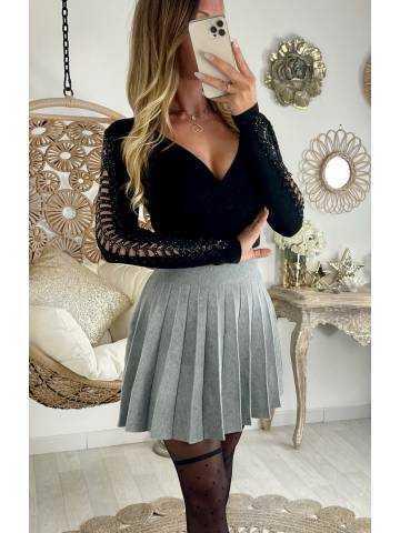 """Ma jupe en maille grey """"plissée"""""""