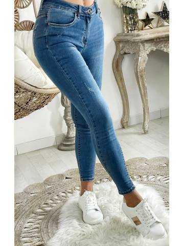 Mon Jeans taille moyenne medium blue basic